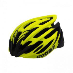 Catlike VELETA žlutá fluo cyklistická přilba