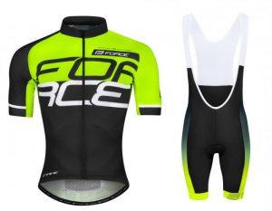 Force FAME fluo-černo-bílý dres - kr. rukáv + Force B40 černo-fluo kraťasy