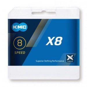 Kmc X-8 BOX Stříbrný řetěz