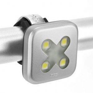 Knog Blinder 4 Cross Přední - Stříbrné světlo