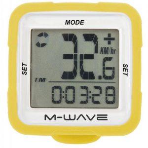 M-WAVE SILIKON 14 FUNKCÍ žlutý cyklocomputer