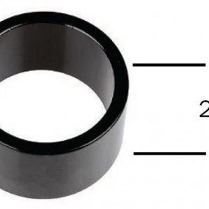 "M-wave Podložka A-head 1""1/8"" 20mm černá"
