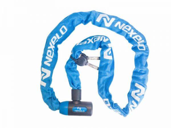 Nexelo řetěz NA Klíč 1200mm Modrý zámek