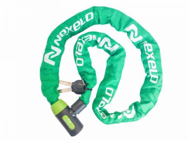 Nexelo zámek řetěz na klíč 1200mm zelený