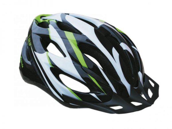 Sulov Spirit černo-zelená cyklistická helma