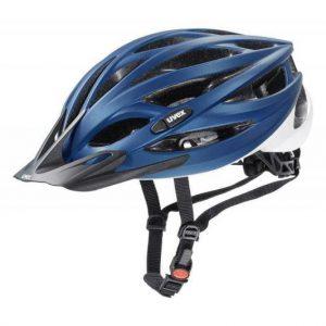 Uvex Oversize Blue-white Mat 2020 cyklistická helma + reflexní sada