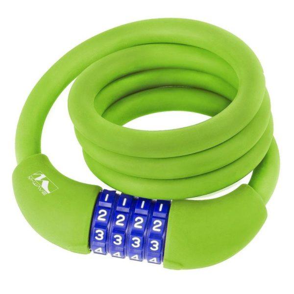 M-WAVE 12X1000 kódový zámek zelený