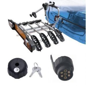 Peruzzo SIENA 4 kola nosič na tažné zařízení + 1x zámek nosiče + adaptér el. přípojky