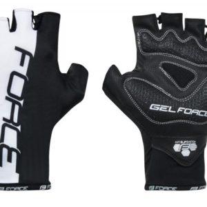 Force DOTS bílo-černé rukavice bez zapínání