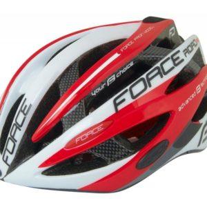 Force ROAD PRO JUNIOR bílo-červená cyklistická přilba