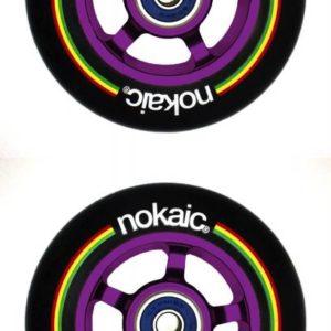 Nokaic Kolečka 100mm BLACK/PURPLE 2ks