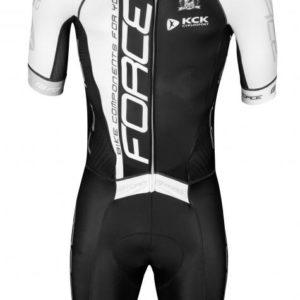 Force TEAM PRO černo-bílá cyklistická kombinéza
