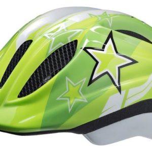 Ked Meggy green stars cyklistická přilba POUZE S (46-51 cm) (VÝPRODEJ)
