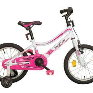 Koliken Biketek Smile bílo-růžové 16