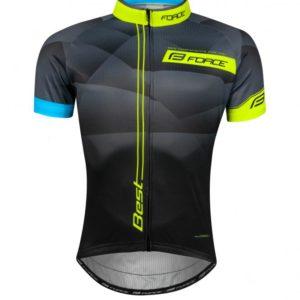 Force BEST černo-fluo cyklistický dres krátký rukáv