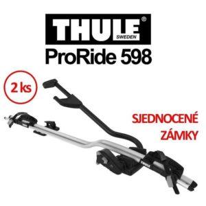 Thule ProRide 598 střešní nosič sada 2 ks a sjednocení zámků