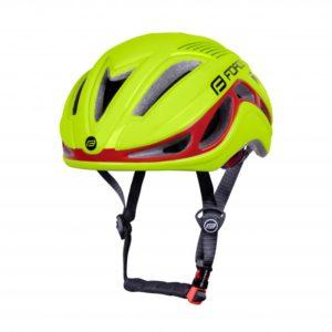 Force REX fluo-červená cyklistická přilba