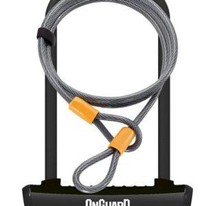 Onguard zámek podkova 115x230x11 mm černá + lanko 1200x10 mm