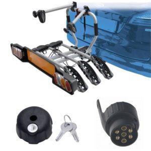 Peruzzo SIENA 3 kola nosič na tažné zařízení + 1x zámek nosiče + adaptér el. přípojky