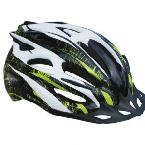 Sulov TOP-QUATRO 3 bílo/zelená cyklistická helma