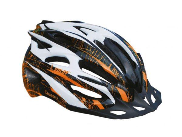 Sulov TOP-QUATRO 5 bílo/oranžová cyklistická helma