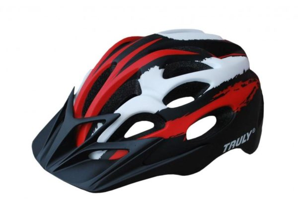 Truly Freedom červeno/černá cyklistická helma