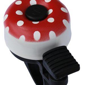 Velobel Zvonek MAX1 mini puntíky červená