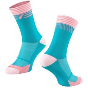 Force Ponožky STREAK modro-růžové