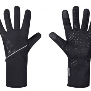Force VISION černé softshell cyklistické rukavice